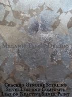 craked-genuine-silver-and-composite-silver-leaf-on-reactive-paint